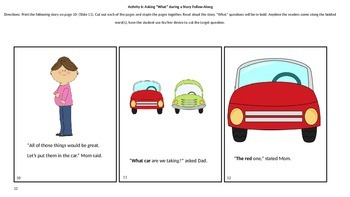"AAC: Asking ""What"" Questions Lesson Plan & Activity Set"