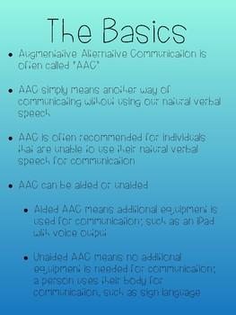 AAC Augmentative Alternative Communication Handout for Parents