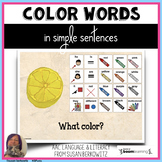 AAC BOOM™ Core Word Colors in Simple Sentences digital act