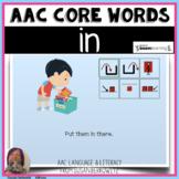 AAC BOOM™ Core Word IN No Print Interactive Digital Activi