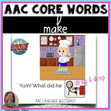 AAC BOOM™ Core Word MAKE No Print Digital Activity speech