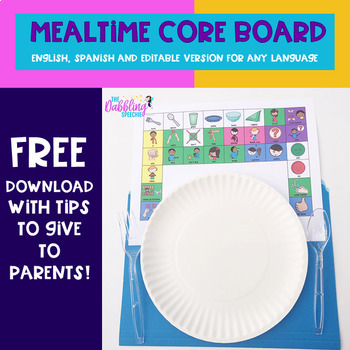 AAC CORE Board for Mealtime