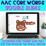 AAC CORE Vocabulary Activities - MORE, EAT, ALL DONE, YES/