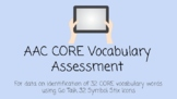 AAC CORE Vocabulary Assessment