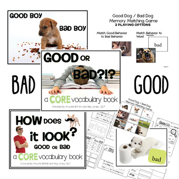 AAC CORE Words BUNDLE Good Bad