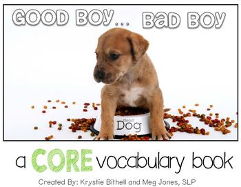 AAC CORE Words Good Boy, Bad Boy