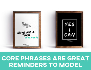 AAC Core Words Classroom Posters
