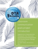 AAC Classroom Communication Project:  Intro and Tools