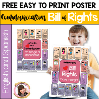 Important Special Education Rights That >> Aac Communication Bill Of Rights Poster By Beautiful Speech Life
