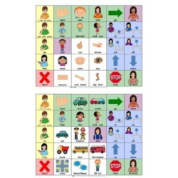 AAC Communication Book and Boards