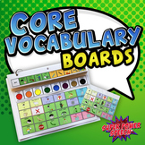 AAC Core Vocabulary Boards (Editable)