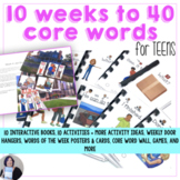 AAC Core Vocabulary Activities 10 Weeks to Communicating 40 Core Words TEENS
