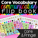AAC Core Boards with Fringe Vocabulary Flip Book!