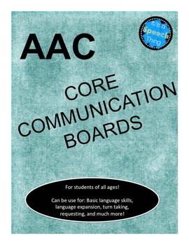 AAC Core Communication Boards- Games