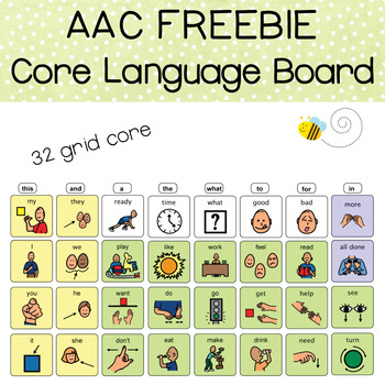 AAC Core Language Board
