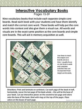 AAC Core Vocabulary