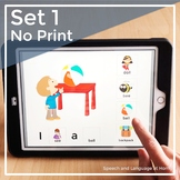 AAC Core Speech Therapy Activities | No Print Distance Learning | Set 1 Bundle