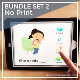 Distance Learning Speech Therapy Activities | No Print AAC Core | Set 2 Bundle