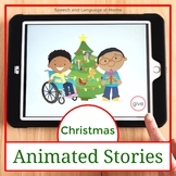 AAC Core Vocabulary Animated Stories: Christmas