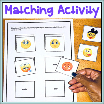 AAC Core Vocabulary Activities with Carrier Phrases