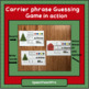 AAC Core Vocabulary Game with Christmas Carrier Phrases
