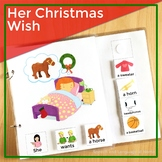 AAC Core Vocabulary Words Interactive Book: Her Christmas Wish