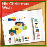 AAC Core Vocabulary Words Interactive Book: His Christmas Wish