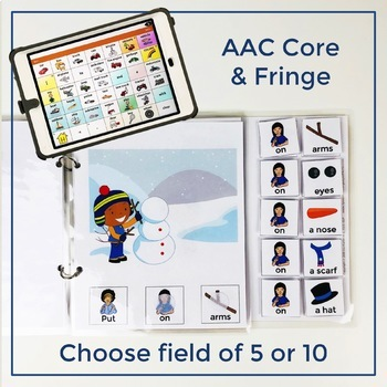 AAC Core Vocabulary Words Interactive Book: Winter Bundle
