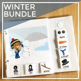 AAC Core Vocabulary Interactive Book: Winter Bundle