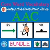 AAC Core Vocabulary Interactive Slides Bundle GO  EAT  ON