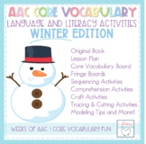 AAC Core Vocabulary Language and Literacy PAACK - Winter