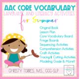 Summer AAC Core Vocabulary Activities   Classroom AAC Core