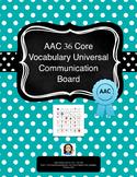 AAC Core Vocabulary Universal Communication Board