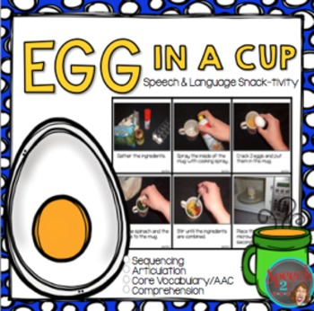 AAC, Core Vocabulary, WH Questions, Snacktivity: Egg in a Cup