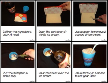 AAC, Core Vocabulary, WH Questions, Snacktivity: Root beer Floats
