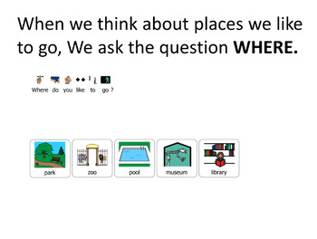 "AAC Core Vocabulary ""We Go Places"""