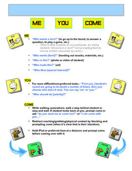 AAC Core Vocabulary of the Week (3) - WHAT, DO, GIVE, PUT, ME, YOU, & COME