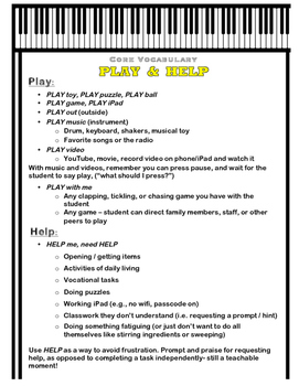 AAC Core Vocabulary of the Week (3) - WHEN, MAKE / PLAY, HELP / OPEN, TURN & ON