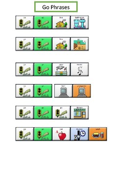 """AAC Core Word """"GO"""" LAMP Words for Life"""
