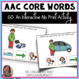 AAC Core Word GO Interactive No Print BOOM Activity for Sp