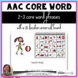 AAC Core Word Phrases Universal Communication Board set 1