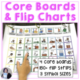 AAC Core Word Picture Communication Boards with Flip Strip