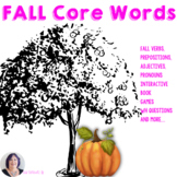AAC Core Vocabulary Activities Thematic | Fall | Apples Pumpkins Speech Therapy
