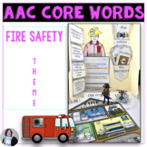 AAC Core Vocabulary Activities for Fire Safety for Speech Therapy