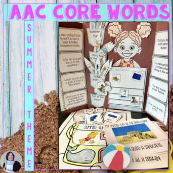 aac core word themes summer beach fun with core by susan berkowitz