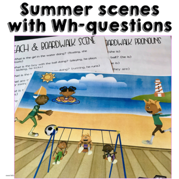 AAC Core Word Themes Summer Beach Fun with Core
