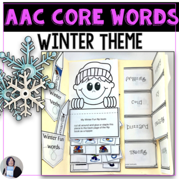 AAC Core Vocabulary Activities for Winter Theme for speech therapy