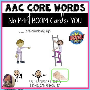 AAC Core Word YOU Interactive No Print BOOM Activity