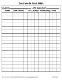 AAC Core Words Basic Data Recording Sheet