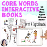 AAC Core Words Books Go Stop More Again All done No Print